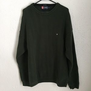 chaps by ralph lauren dark green sweater 🍂